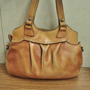 Patricia Nash Napoli Brown Leather Shoulder Bag